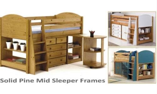 mid sleeper pine bed frame
